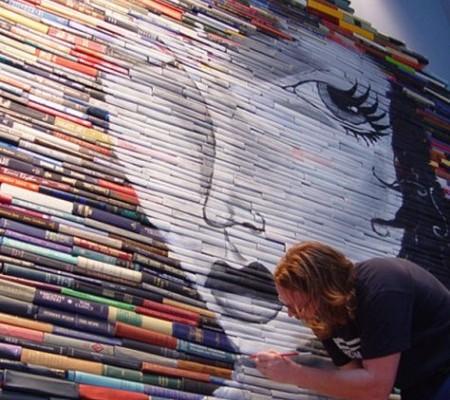 Pinturas e esculturas em livros
