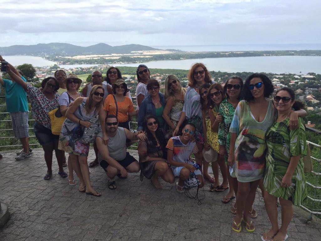 Galera BS TUR no mirante da Lagoa da Conceição/ janeiro de 2016