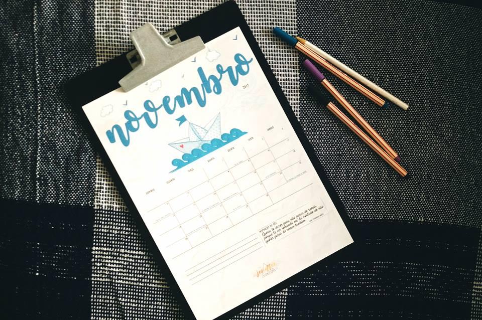 Planner mensal do Geraldas Blog