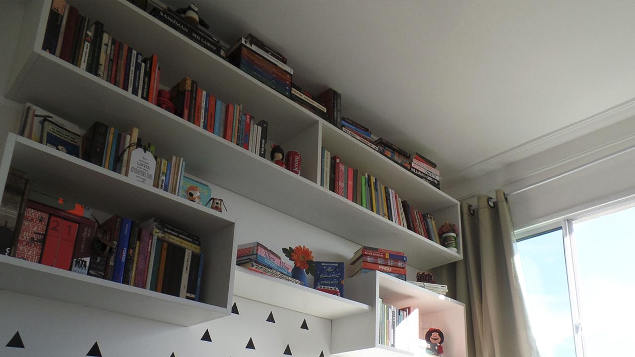 Minha estante de livros: tour e organização