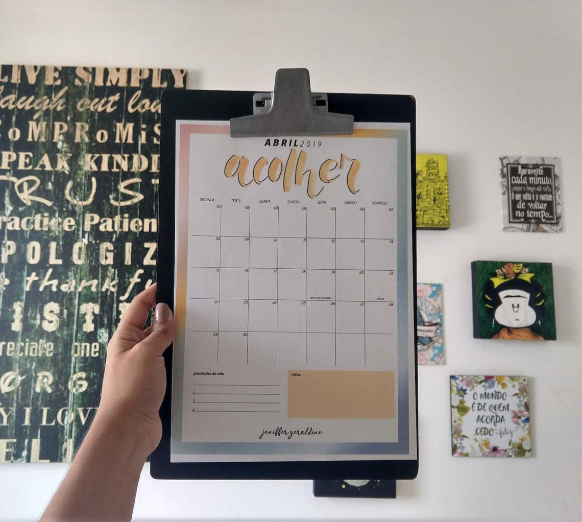 Planner 2019 – Abril